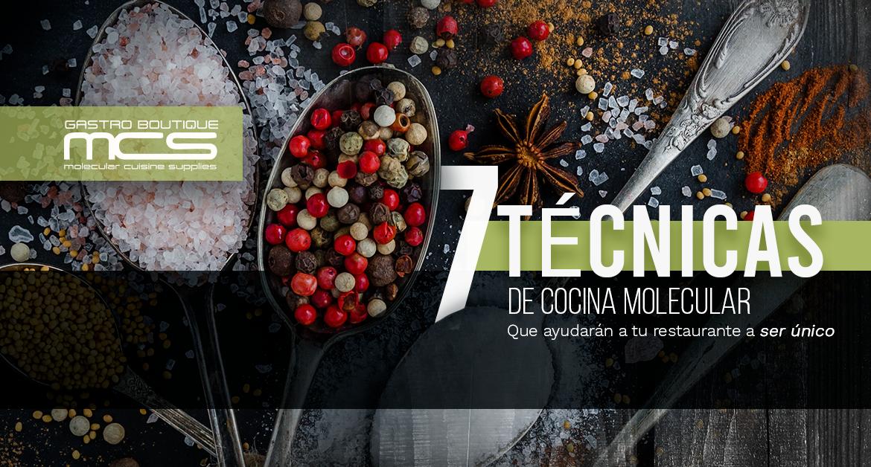 7 técnicas de cocina molecular
